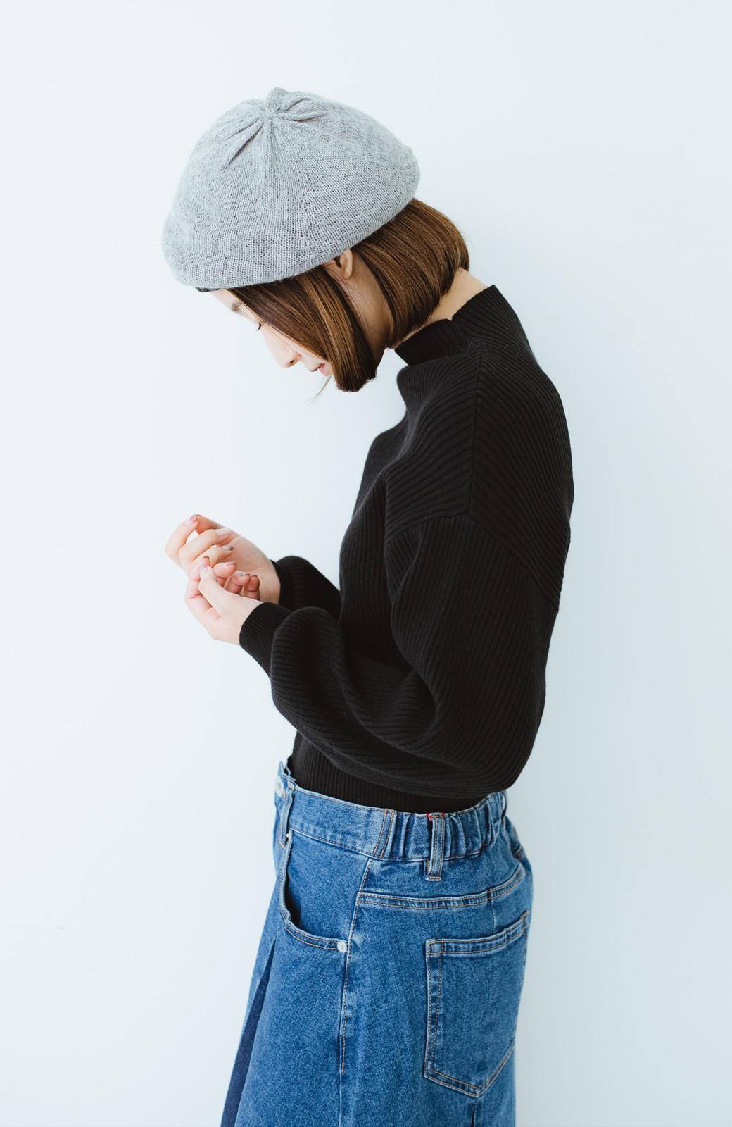 haco! ベビーアルパカ リバーシブルベレー帽 <チャコールグレー>の商品写真16