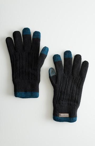 haco! タッチパネル対応手袋 イタリアンウールグローブ <ブラック>の商品写真