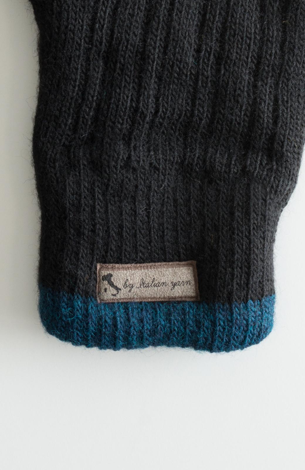 haco! タッチパネル対応手袋 イタリアンウールグローブ <ブラック>の商品写真3