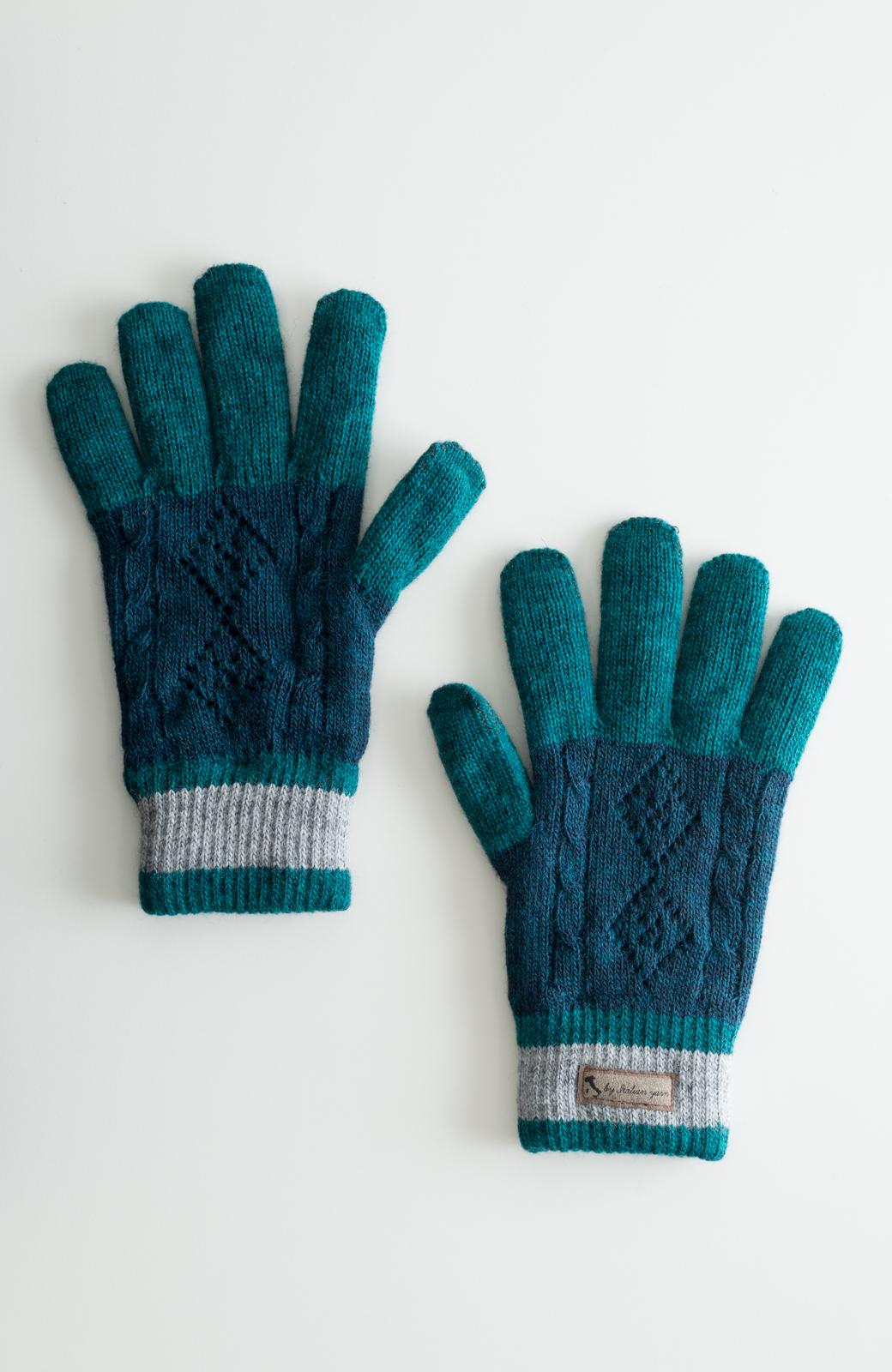 haco! タッチパネル対応手袋 イタリアンウールグローブ <ブルー系その他>の商品写真1