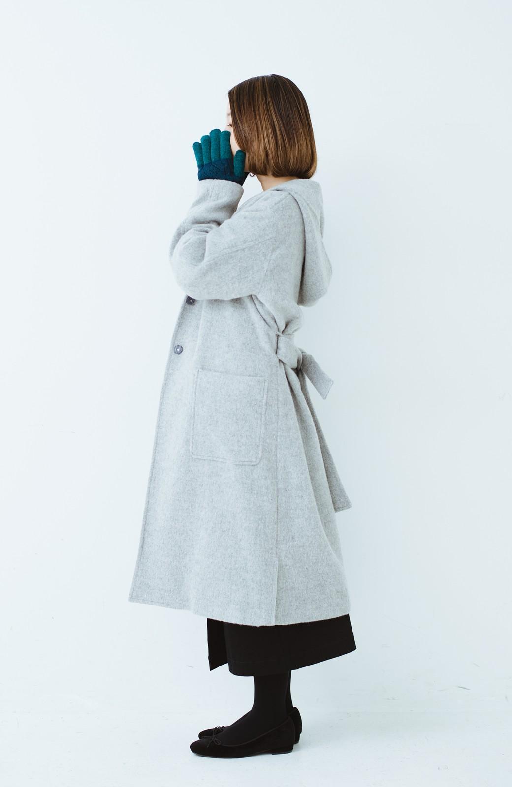 haco! タッチパネル対応手袋 イタリアンウールグローブ <ブルー系その他>の商品写真8