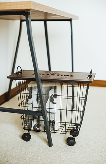 haco! ターブルパニエ・カートバスケット <ブラック>の商品写真