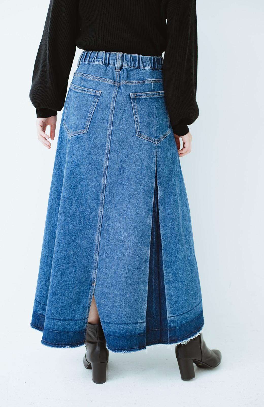 haco! 【再再再入荷!】デニムパネルプリーツスカート <ブルー>の商品写真29