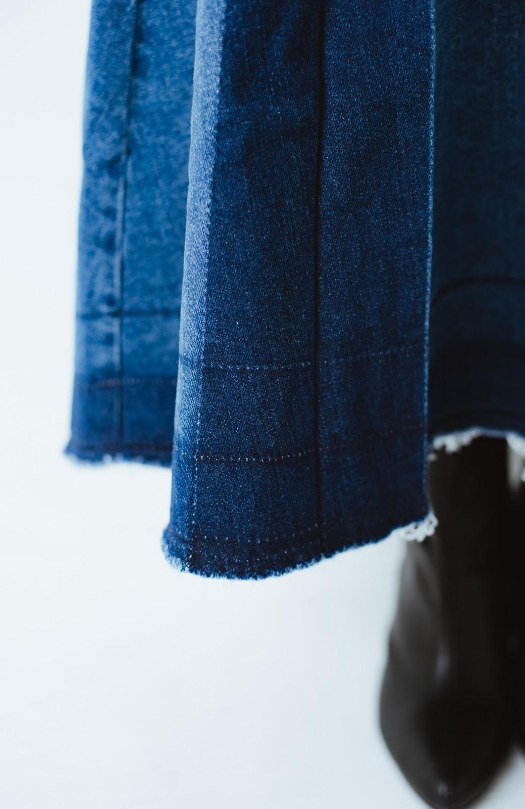 haco! 【再再再入荷!】デニムパネルプリーツスカート <ブルー>の商品写真8