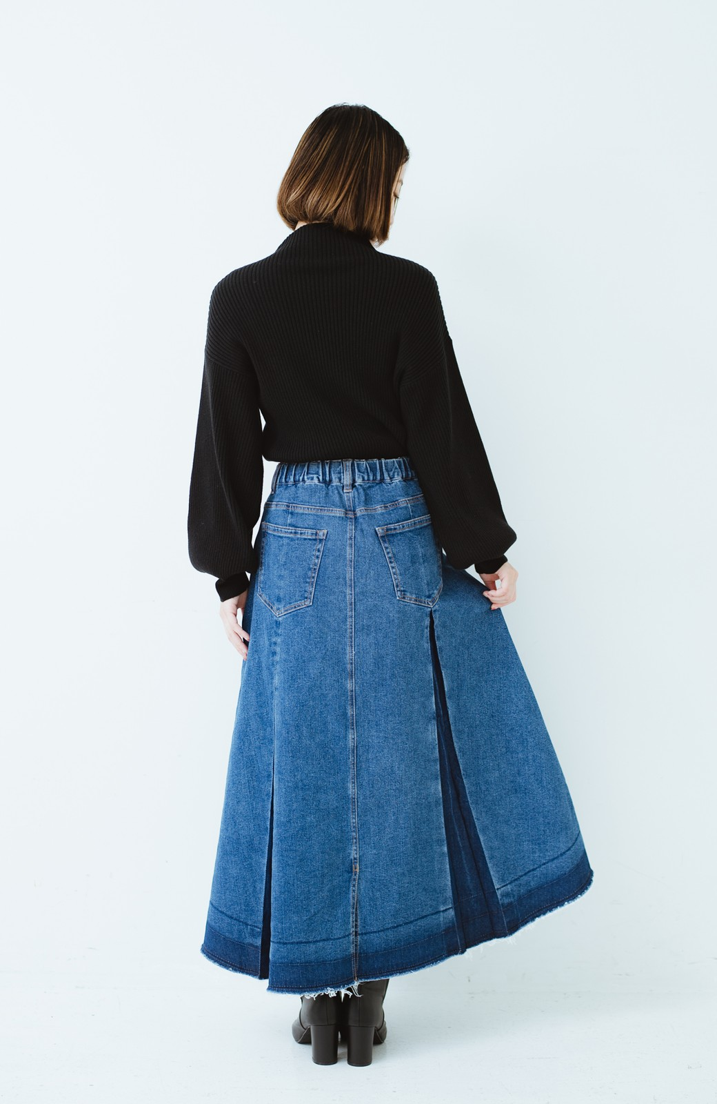 haco! 【新色登場&再入荷!】デニムパネルプリーツスカート <ブルー>の商品写真39