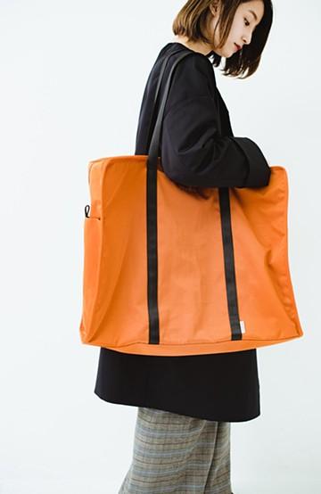 haco! anello ポリエステルツイル トートボストンバッグ <オレンジ>の商品写真