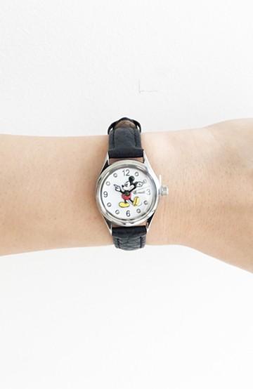 haco! INGERSOLL Disney MICKEY WATCH <ブラック>の商品写真