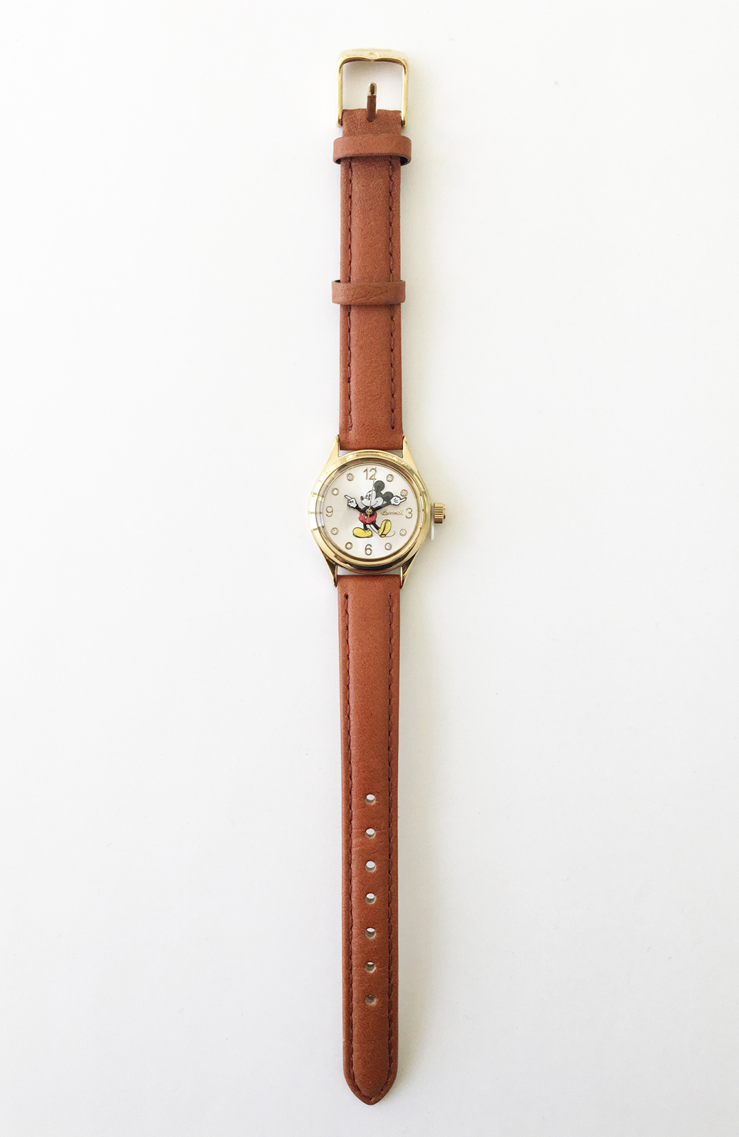 haco! INGERSOLL Disney MICKEY WATCH <キャメル>の商品写真2