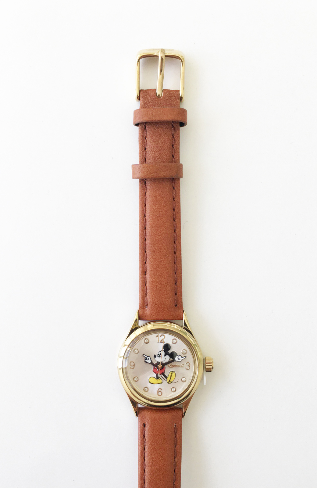 haco! INGERSOLL Disney MICKEY WATCH <キャメル>の商品写真3