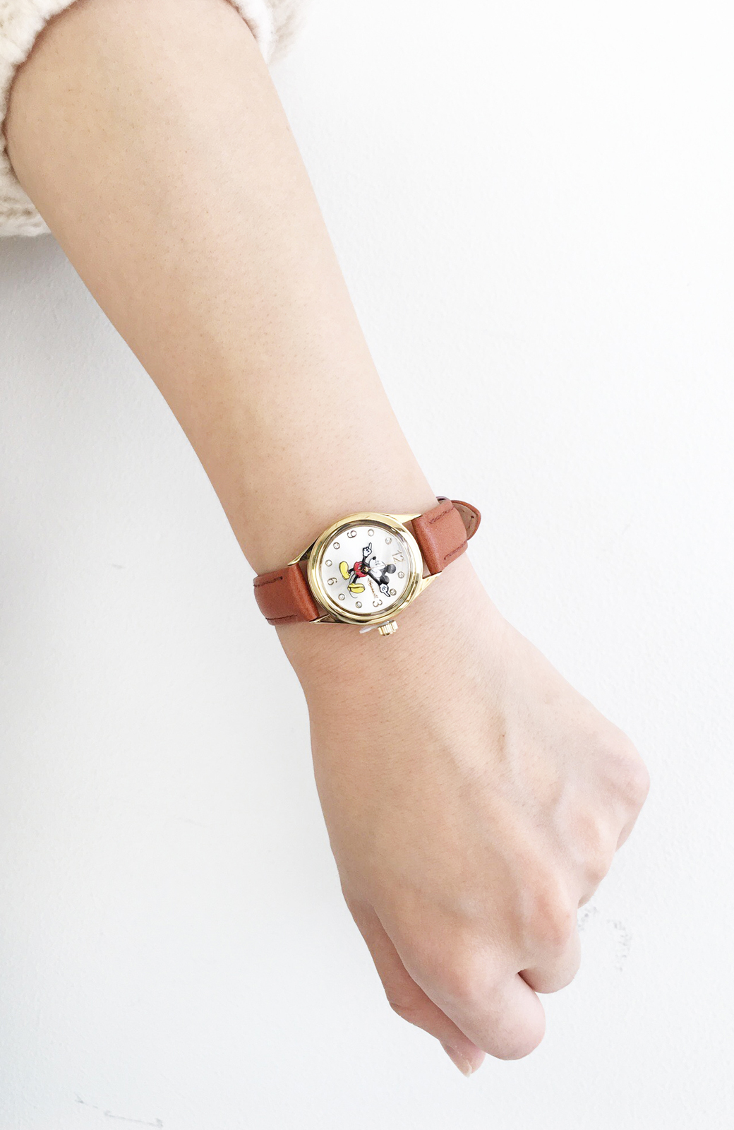 haco! INGERSOLL Disney MICKEY WATCH <キャメル>の商品写真6