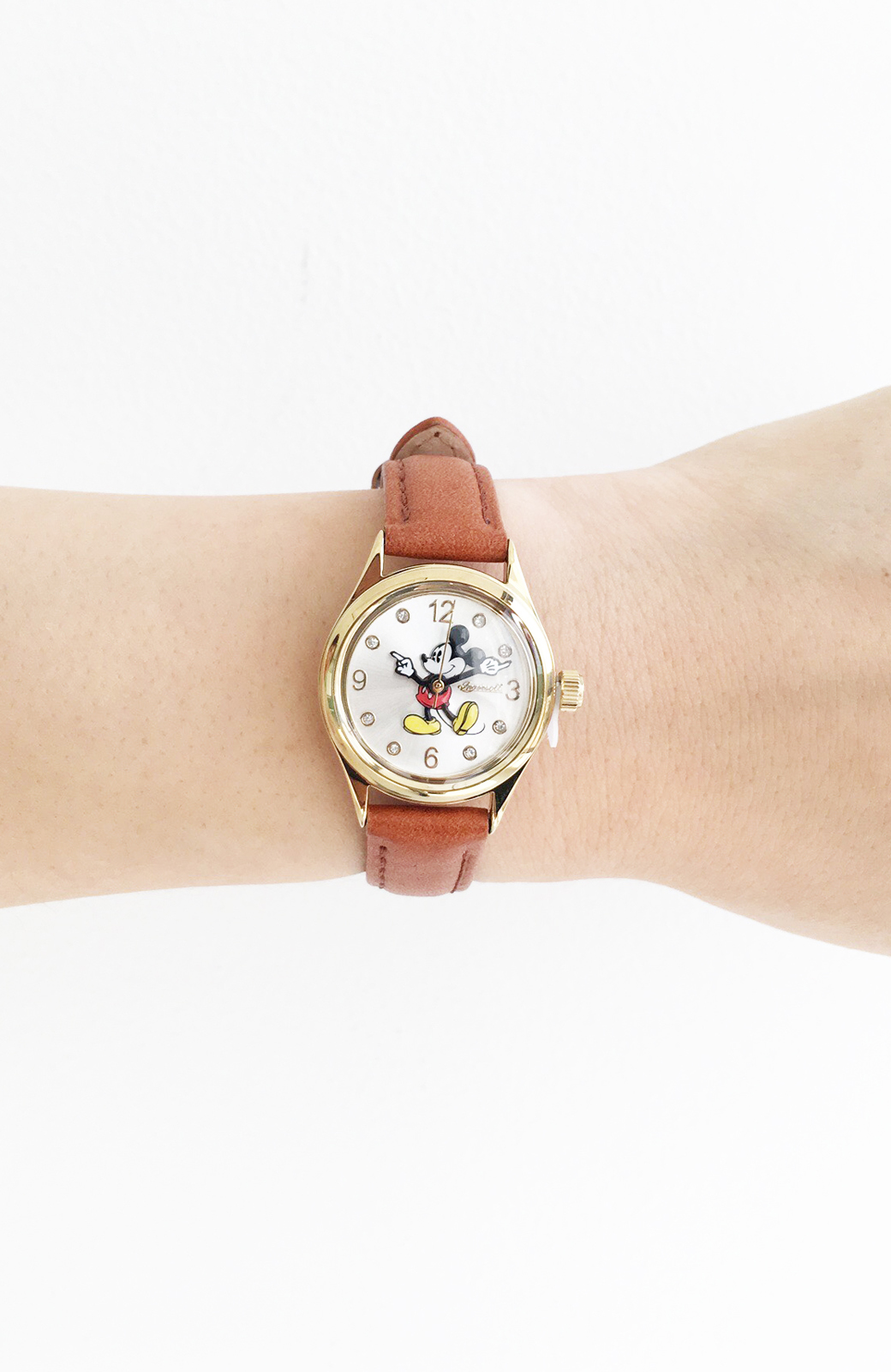 haco! INGERSOLL Disney MICKEY WATCH <キャメル>の商品写真1