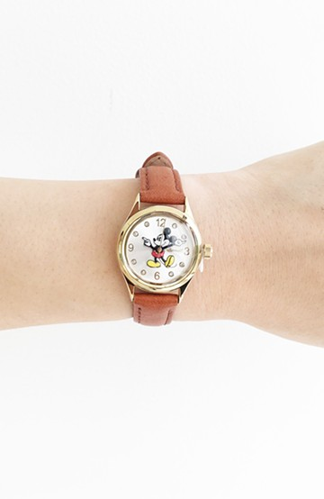 haco! INGERSOLL Disney MICKEY WATCH <キャメル>の商品写真