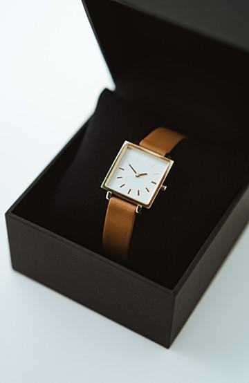 haco! STEVEN ALAN HALF DAY 腕時計 <ブラウン>の商品写真