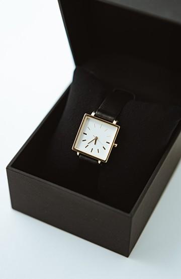 haco! STEVEN ALAN HALF DAY 腕時計 <ブラック×ゴールド>の商品写真