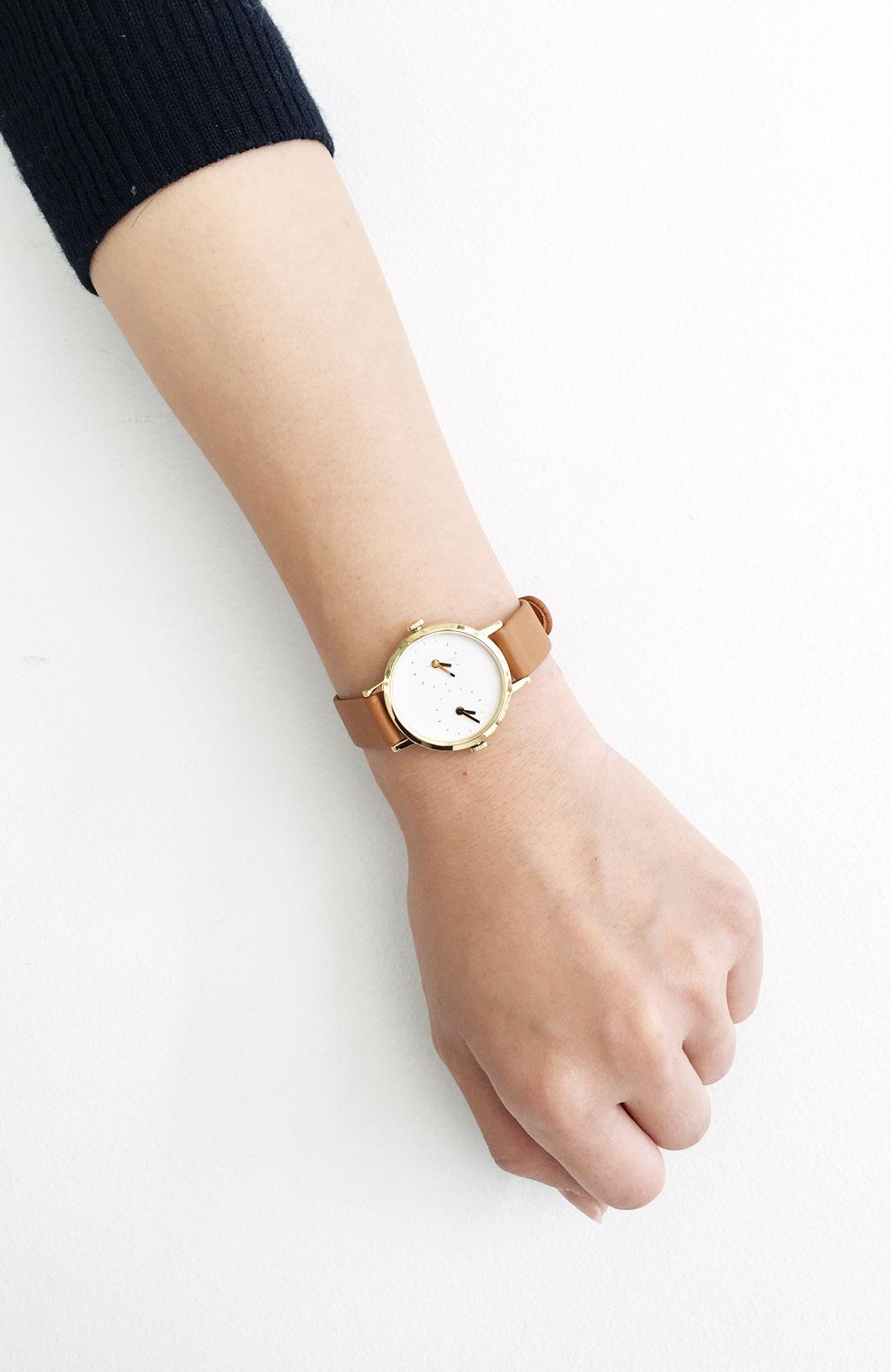 haco! STEVEN ALAN TIME TRAVELER 腕時計 <ブラウン>の商品写真4