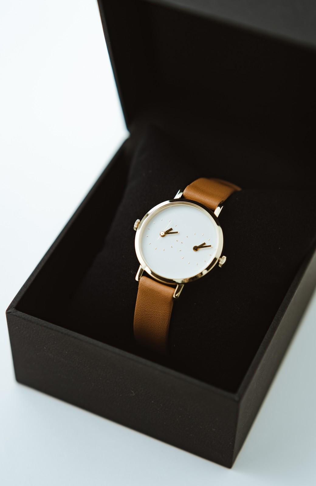 haco! STEVEN ALAN TIME TRAVELER 腕時計 <ブラウン>の商品写真1