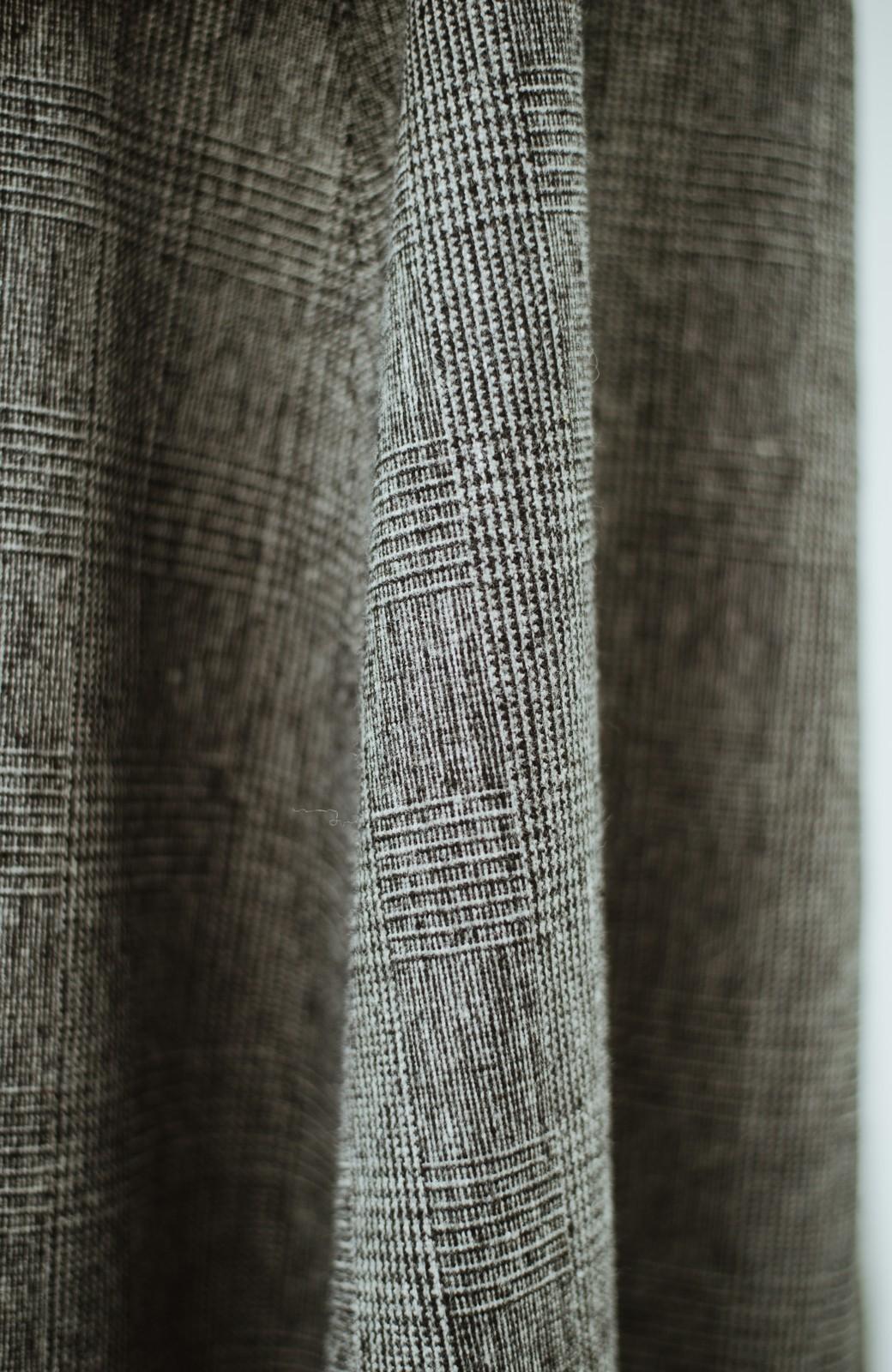 haco! グレンチェックのフレアースカート <ブラック×グレー>の商品写真6