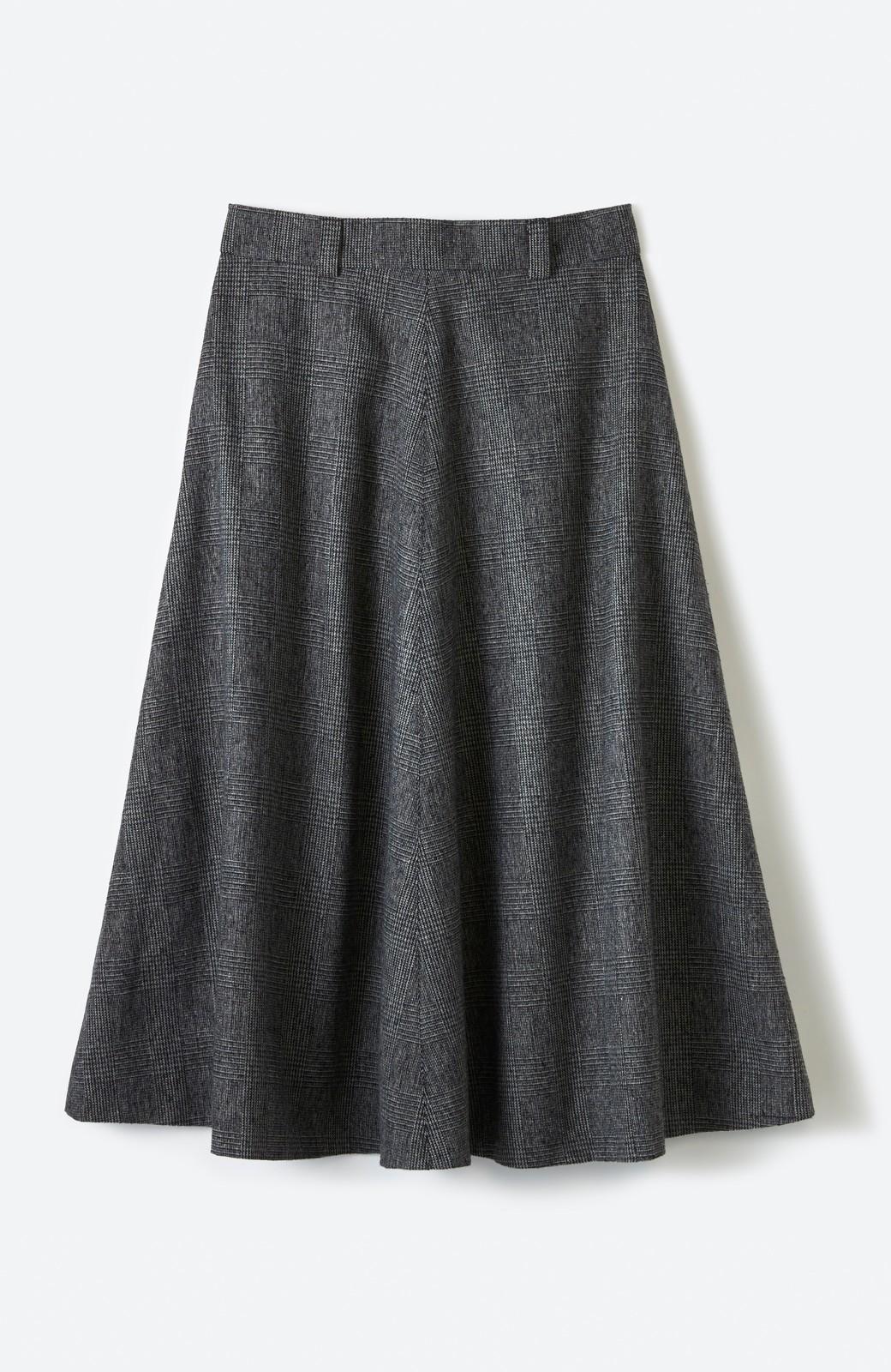 haco! グレンチェックのフレアースカート <ブラック×グレー>の商品写真2