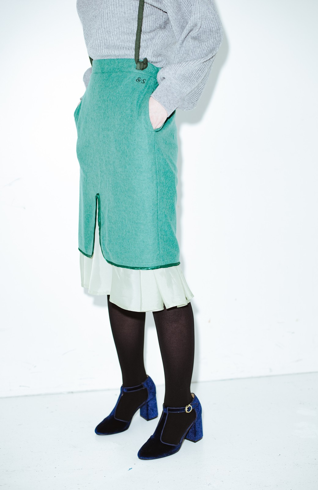 haco! co&tion RERE丸ひものグリーンスカート【アーティスト監修10点もの】 <グリーン>の商品写真2