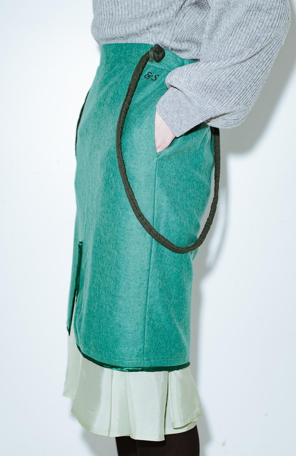 haco! co&tion RERE丸ひものグリーンスカート【アーティスト監修10点もの】 <グリーン>の商品写真5