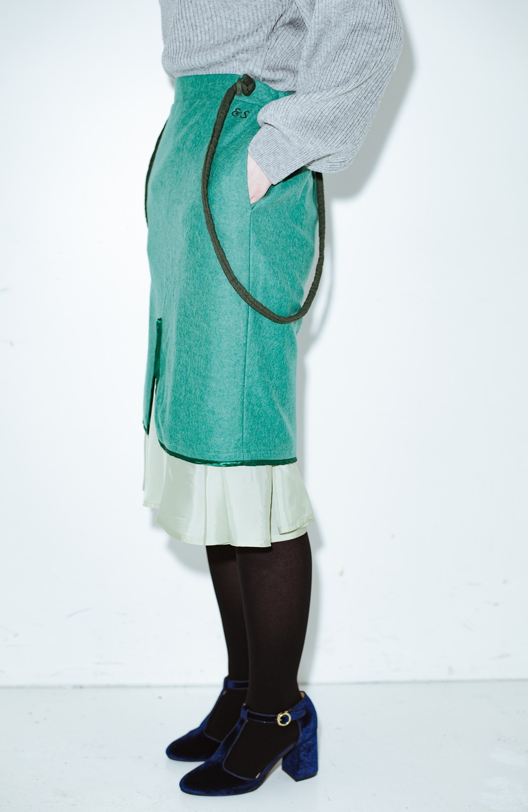 haco! co&tion RERE丸ひものグリーンスカート【アーティスト監修10点もの】 <グリーン>の商品写真1