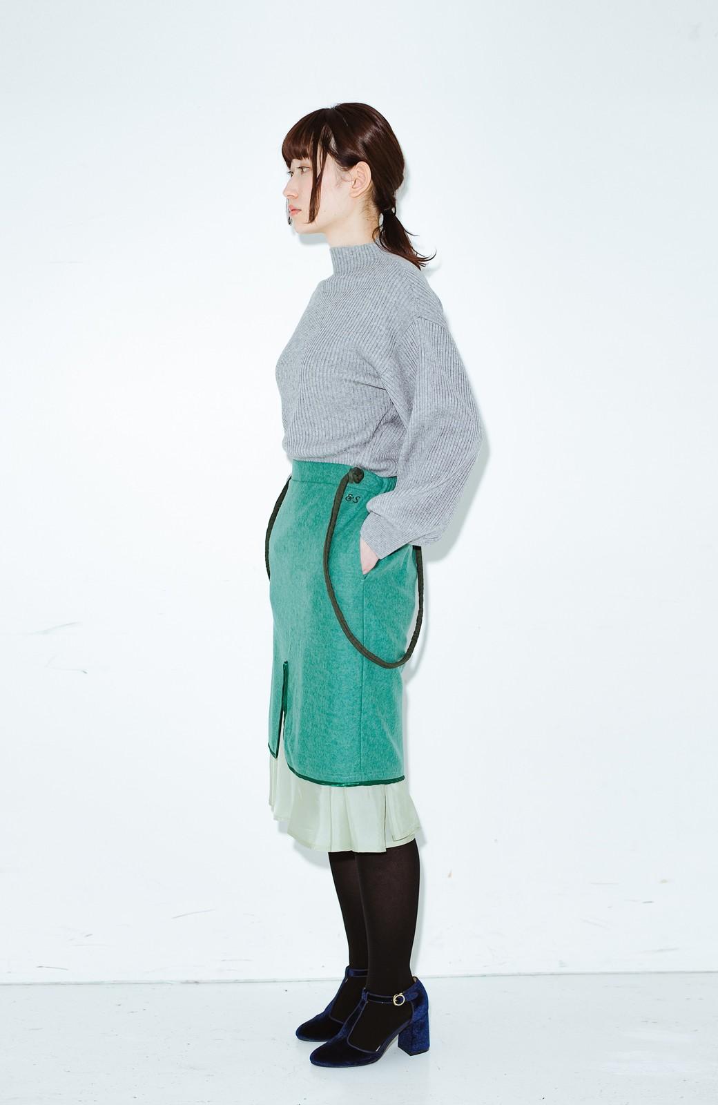 haco! co&tion RERE丸ひものグリーンスカート【アーティスト監修10点もの】 <グリーン>の商品写真10