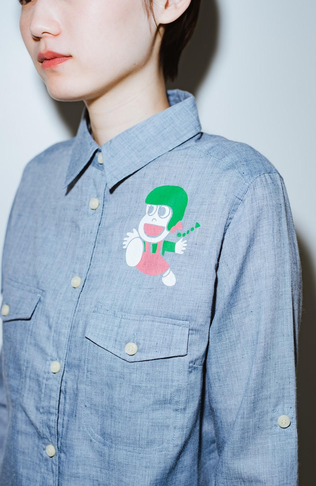 haco! co&tion JUN OSONムラ素材ワークシャツ【アーティスト監修10点もの】 <ブルー>の商品写真2