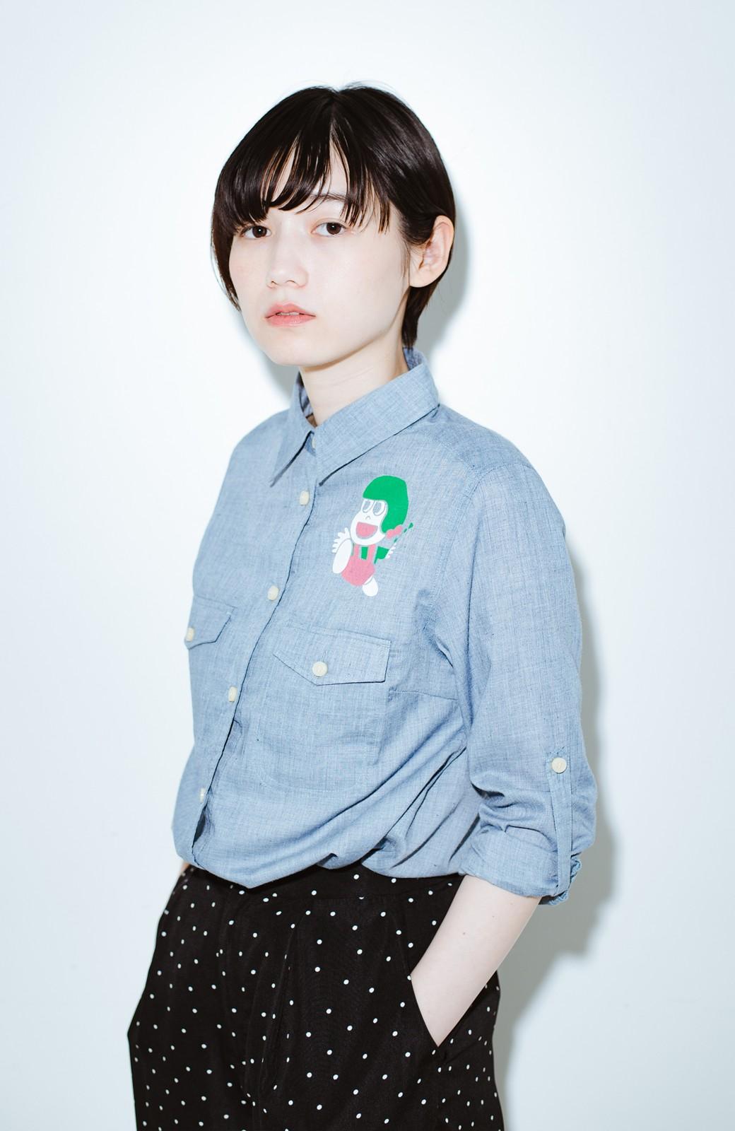 haco! co&tion JUN OSONムラ素材ワークシャツ【アーティスト監修10点もの】 <ブルー>の商品写真1