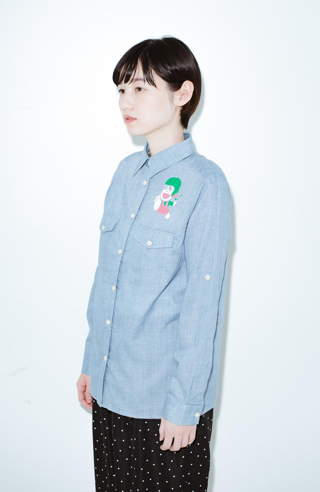 haco! co&tion JUN OSONムラ素材ワークシャツ【アーティスト監修10点もの】 <ブルー>の商品写真7