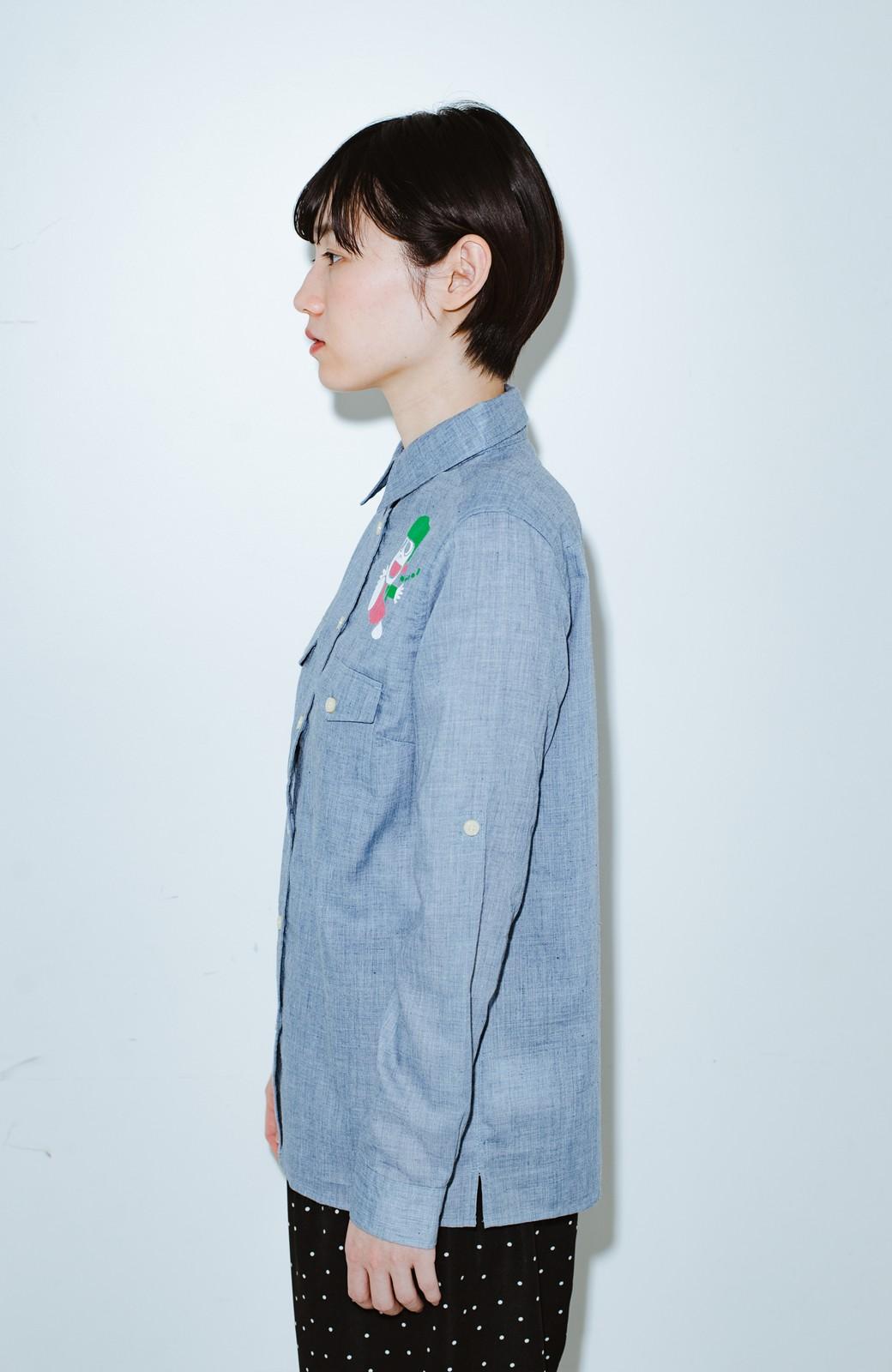haco! co&tion JUN OSONムラ素材ワークシャツ【アーティスト監修10点もの】 <ブルー>の商品写真8