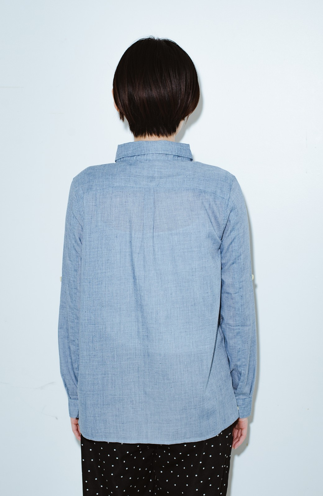 haco! co&tion JUN OSONムラ素材ワークシャツ【アーティスト監修10点もの】 <ブルー>の商品写真9