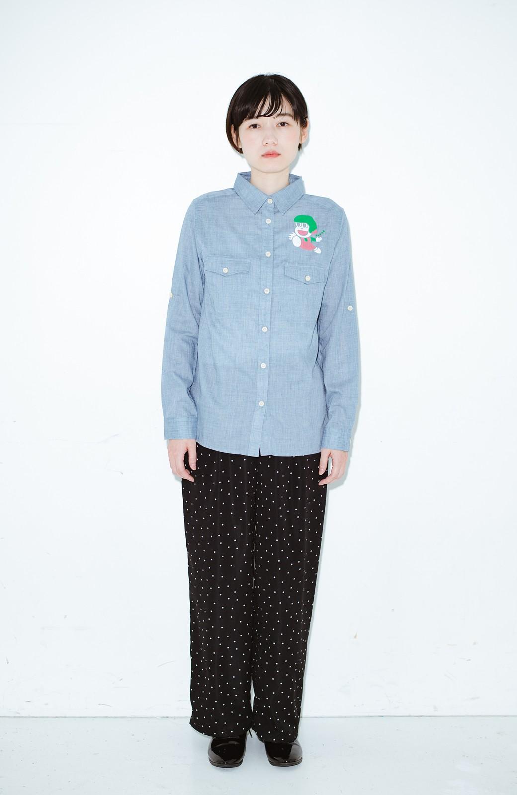haco! co&tion JUN OSONムラ素材ワークシャツ【アーティスト監修10点もの】 <ブルー>の商品写真4
