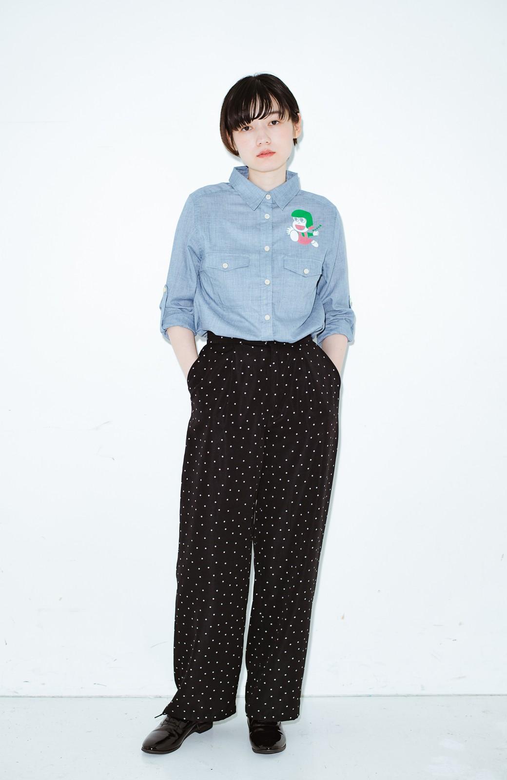 haco! co&tion JUN OSONムラ素材ワークシャツ【アーティスト監修10点もの】 <ブルー>の商品写真5