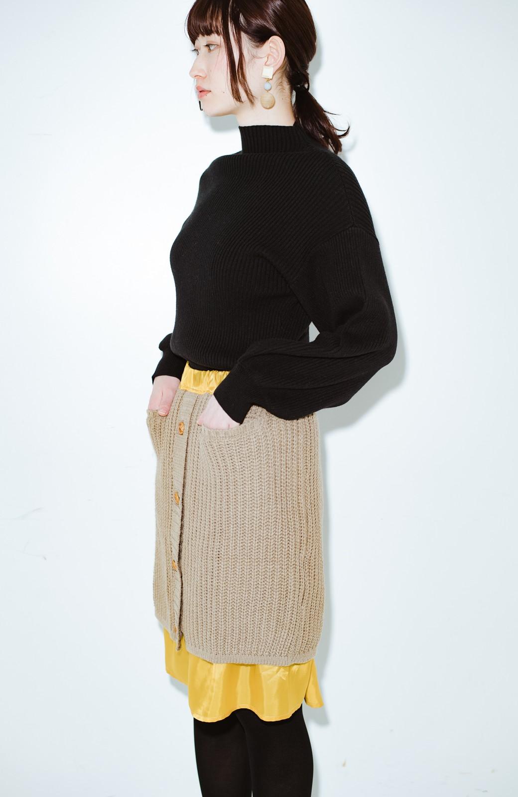 haco! co&tion POTTOニットスカート【アーティスト作品1点もの】 <ライトブラウン>の商品写真6