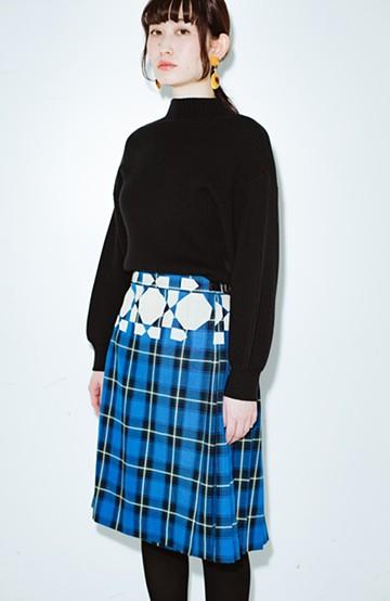 haco! co&tion 中村実樹夢の断片幾何学スカート【アーティスト監修10点もの】 <ブルー>の商品写真