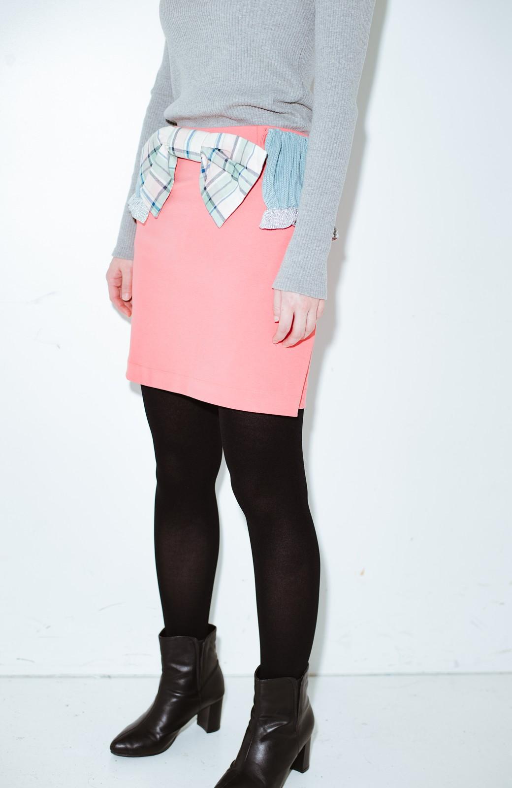 haco! co&tion accoニットフリルのスカート【アーティスト作品1点もの】 <サーモンピンク>の商品写真2