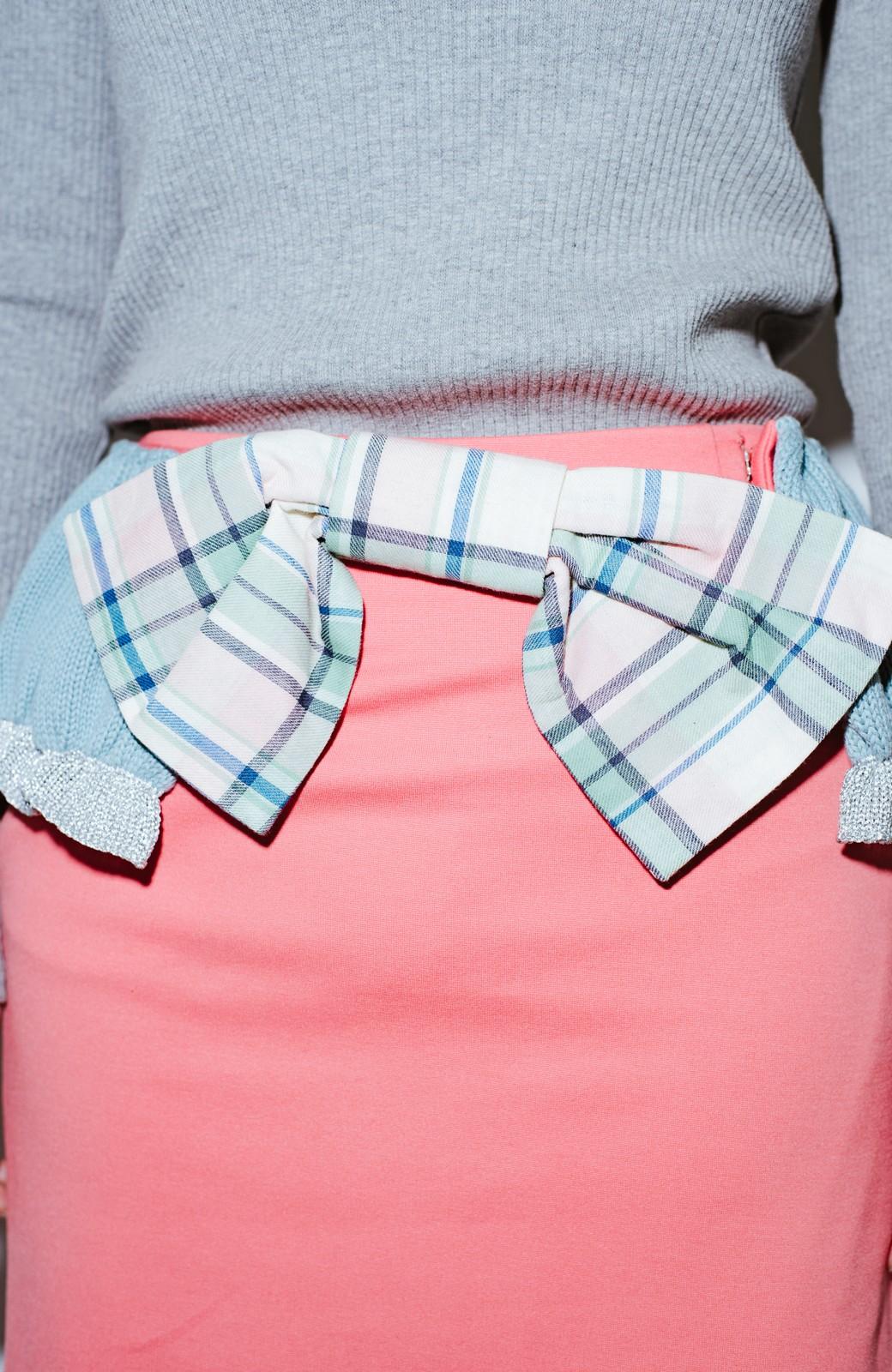haco! co&tion accoニットフリルのスカート【アーティスト作品1点もの】 <サーモンピンク>の商品写真7