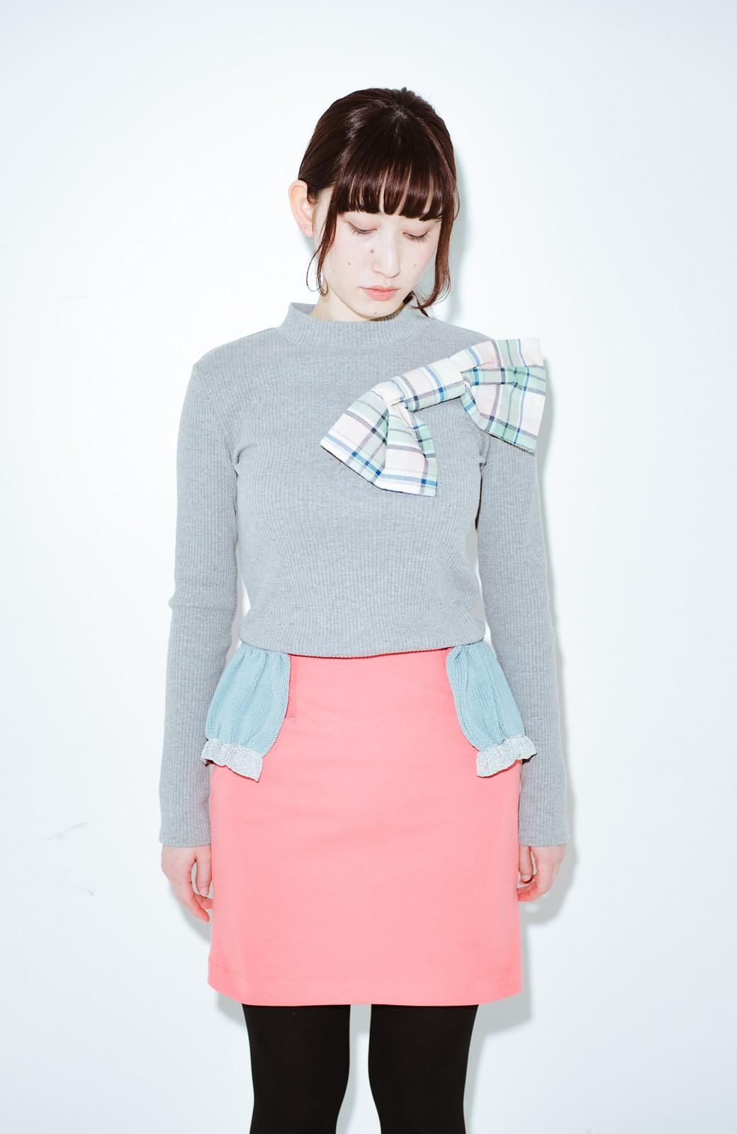 haco! co&tion accoニットフリルのスカート【アーティスト作品1点もの】 <サーモンピンク>の商品写真9