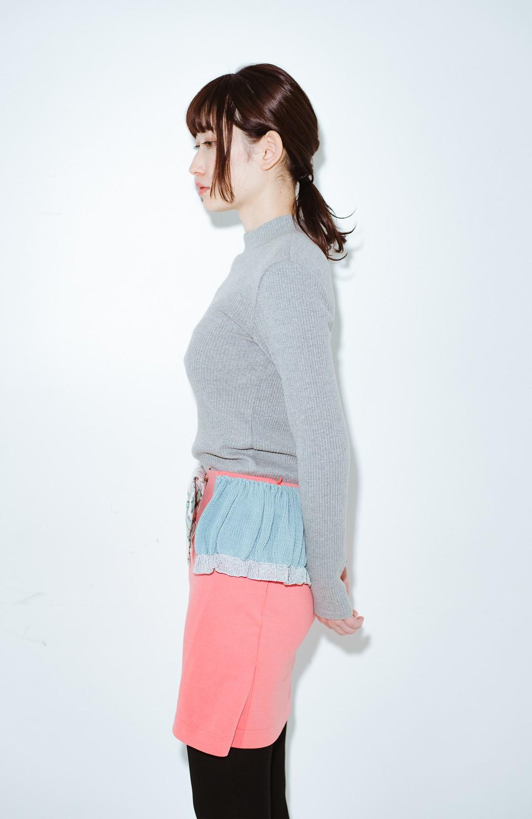 haco! co&tion accoニットフリルのスカート【アーティスト作品1点もの】 <サーモンピンク>の商品写真10