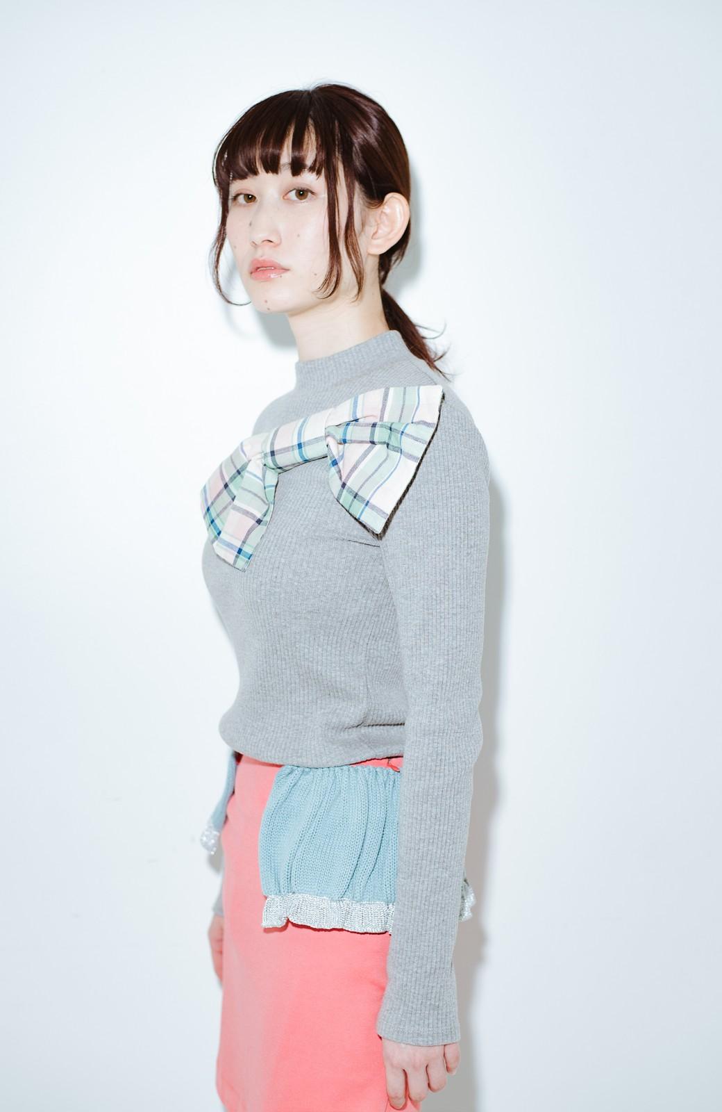 haco! co&tion accoニットフリルのスカート【アーティスト作品1点もの】 <サーモンピンク>の商品写真12