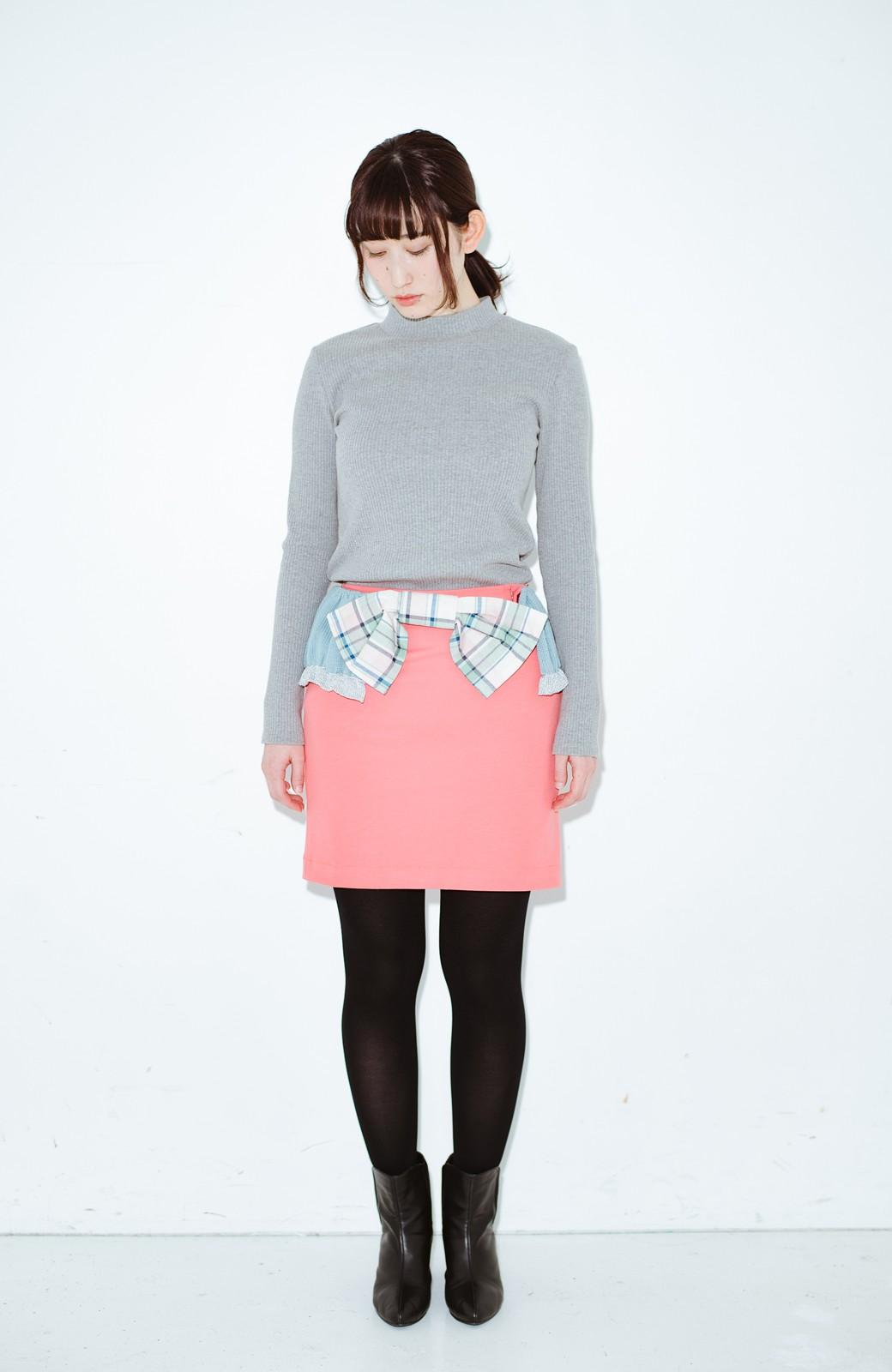 haco! co&tion accoニットフリルのスカート【アーティスト作品1点もの】 <サーモンピンク>の商品写真8