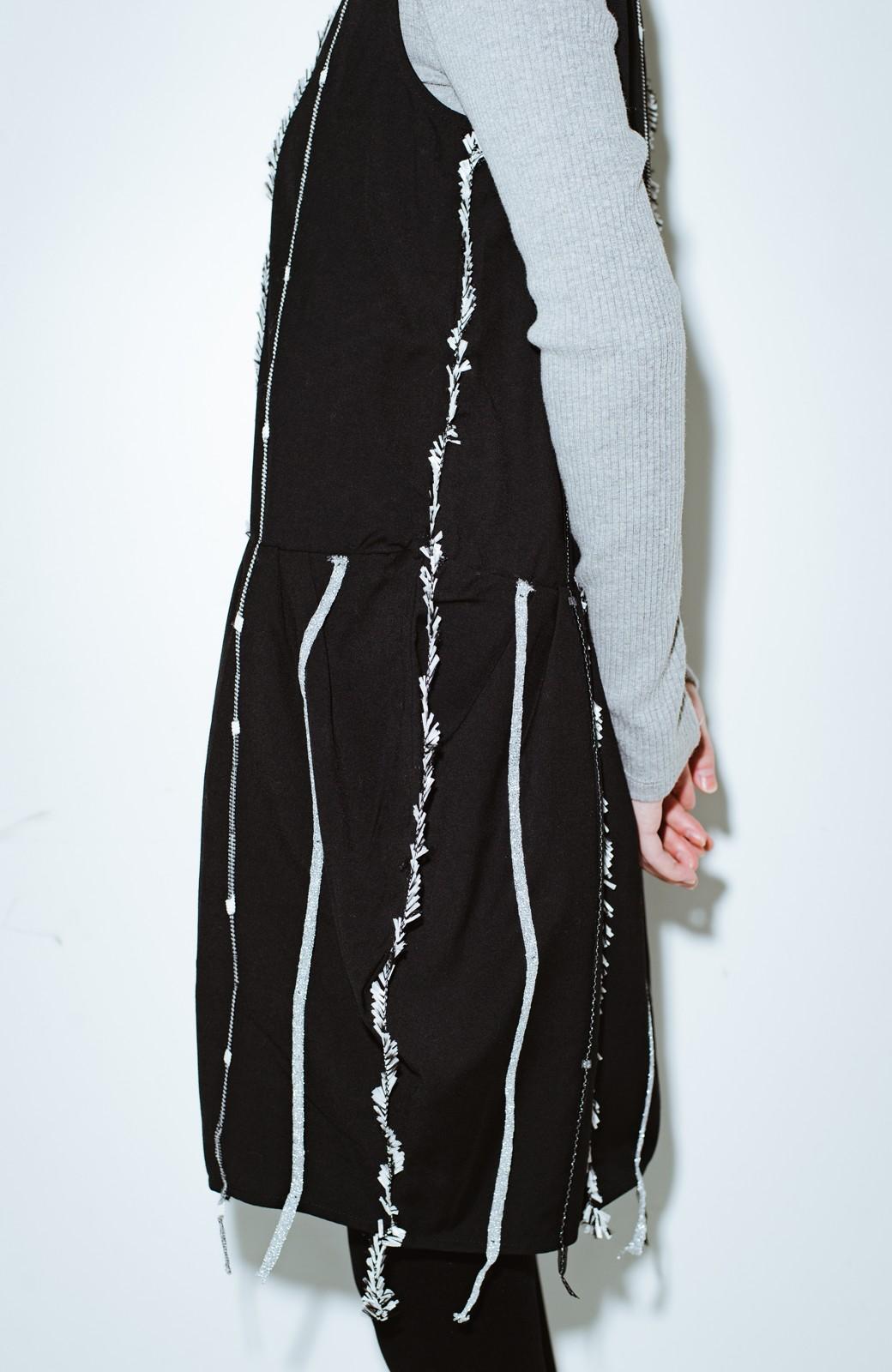 haco! co&tion 田中佑佳Zebra(09 milling crowd)黒ワンピ【アーティスト監修10点もの】 <ブラック>の商品写真2