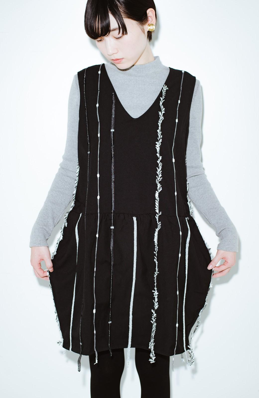 haco! co&tion 田中佑佳Zebra(09 milling crowd)黒ワンピ【アーティスト監修10点もの】 <ブラック>の商品写真1