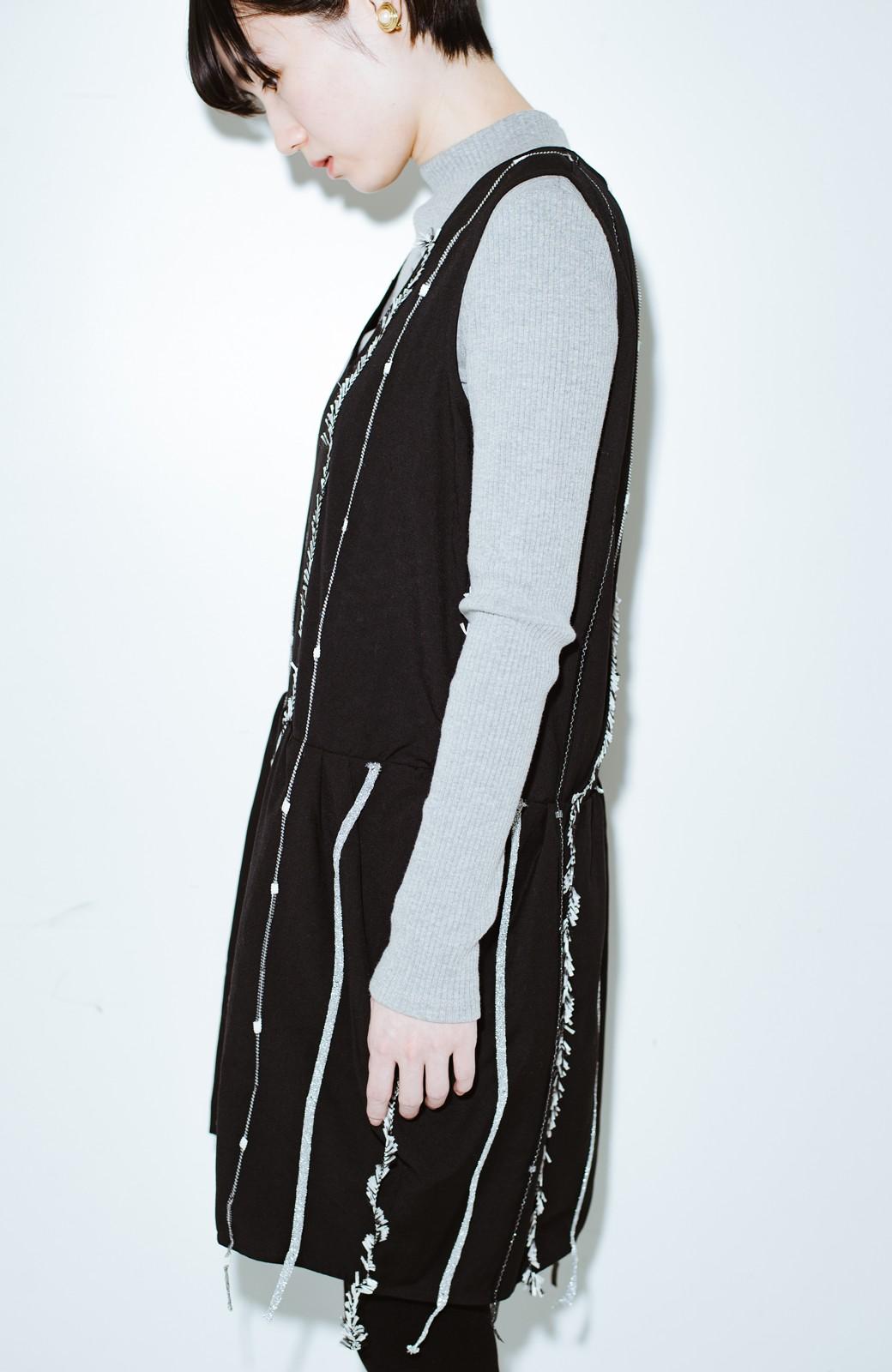 haco! co&tion 田中佑佳Zebra(09 milling crowd)黒ワンピ【アーティスト監修10点もの】 <ブラック>の商品写真9