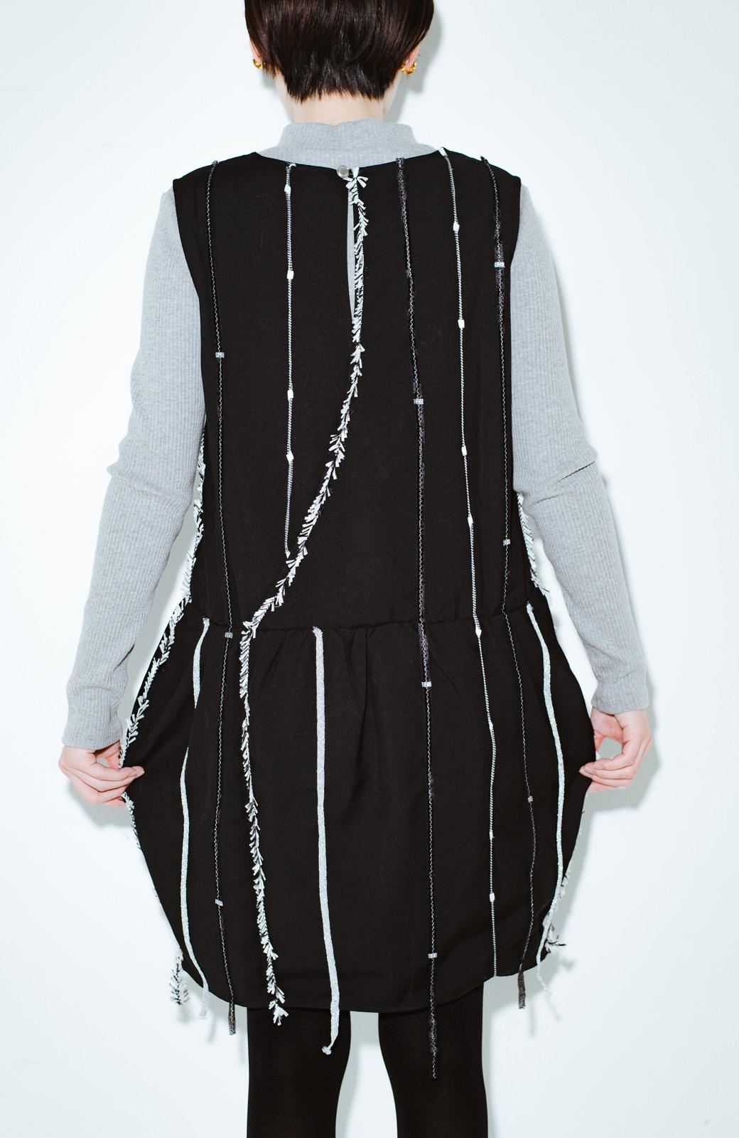 haco! co&tion 田中佑佳Zebra(09 milling crowd)黒ワンピ【アーティスト監修10点もの】 <ブラック>の商品写真10