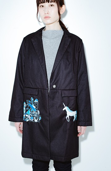 haco! co&tion 二宮佐和子Unicorn&Crystal Coat【アーティスト作品1点もの】 <ブラック>の商品写真