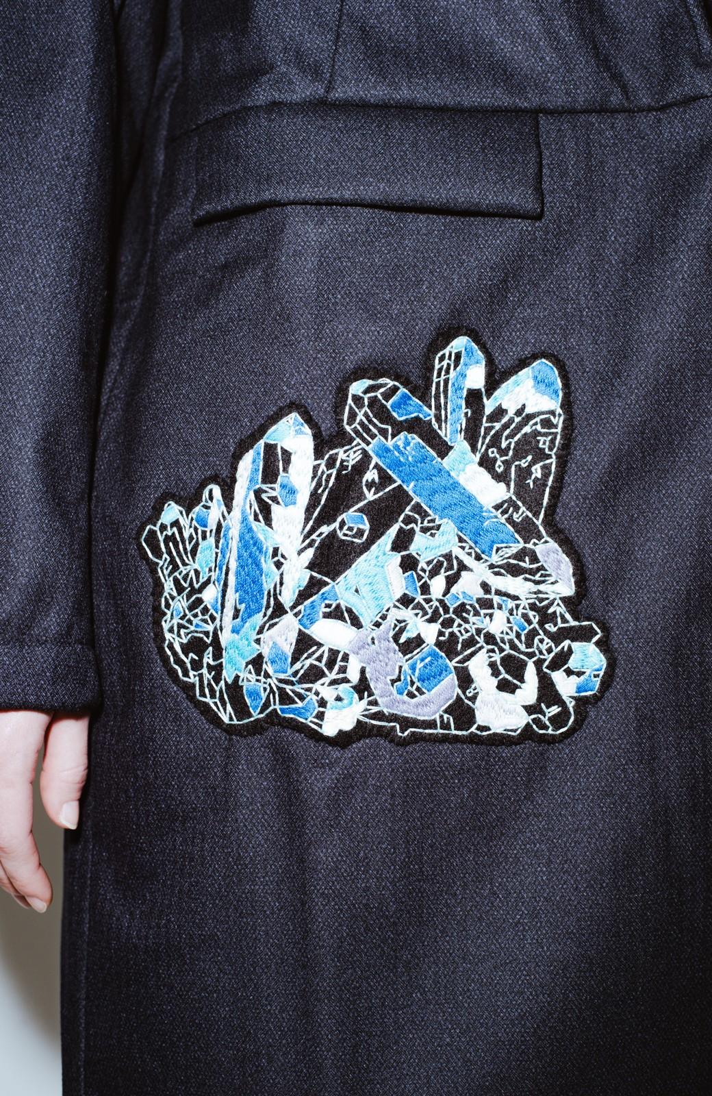 haco! co&tion 二宮佐和子Unicorn&Crystal Coat【アーティスト監修10点もの】 <ブラック>の商品写真3