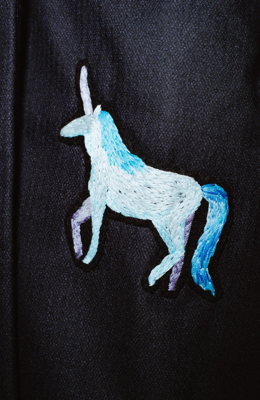 haco! co&tion 二宮佐和子Unicorn&Crystal Coat【アーティスト監修10点もの】 <ブラック>の商品写真5
