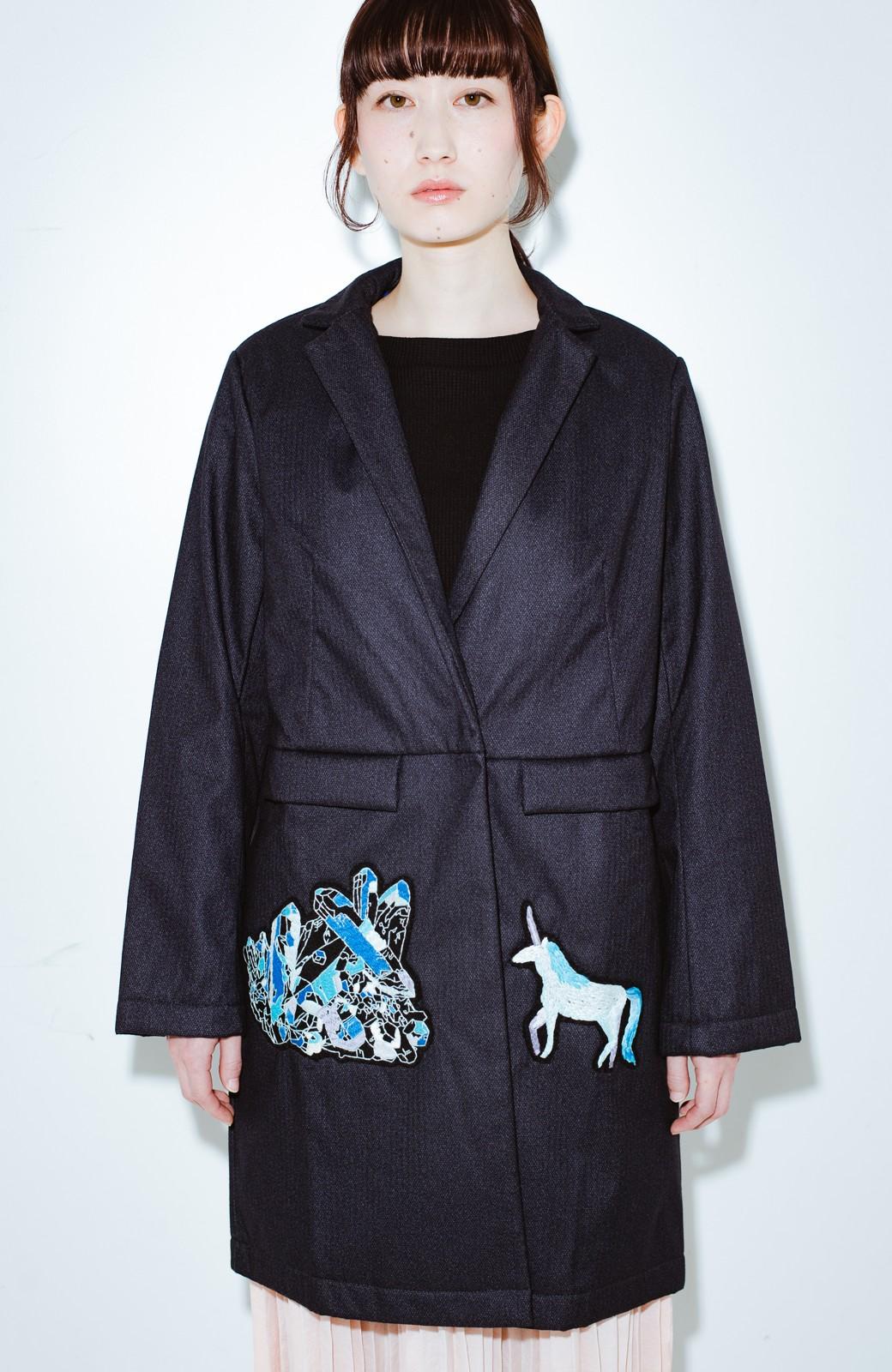 haco! co&tion 二宮佐和子Unicorn&Crystal Coat【アーティスト監修10点もの】 <ブラック>の商品写真1
