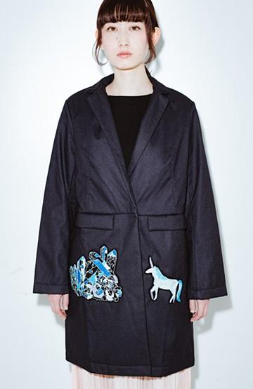 haco! co&tion 二宮佐和子Unicorn&Crystal Coat【アーティスト監修10点もの】 <ブラック>の商品写真